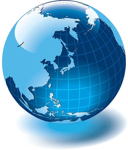 世界中の世界。 - 地球 日本点のイラスト素材/クリップアート素材/マンガ素材/アイコン素材