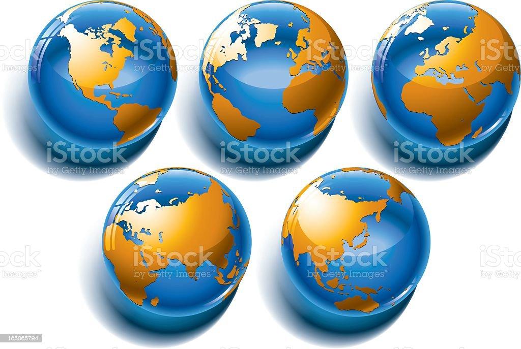 Globe of the World royalty-free stock vector art
