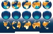 vector illustration globe of world