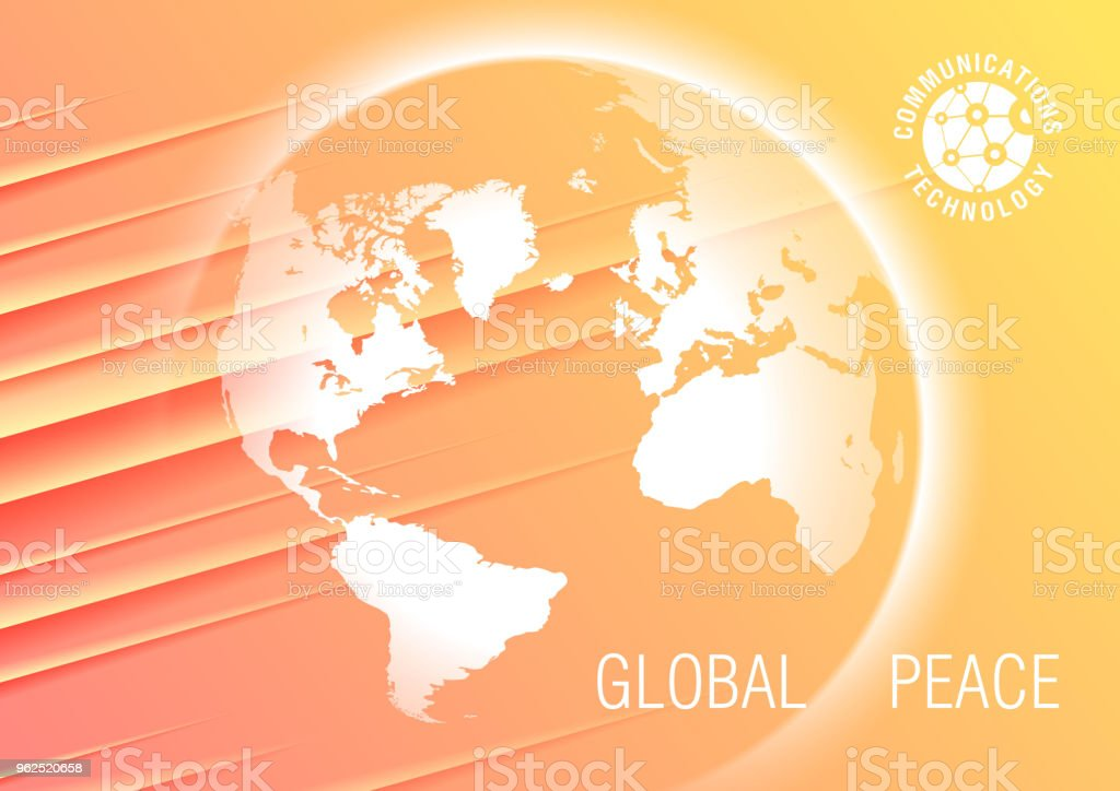 Globe on abstract background - Royalty-free Abstract stock vector