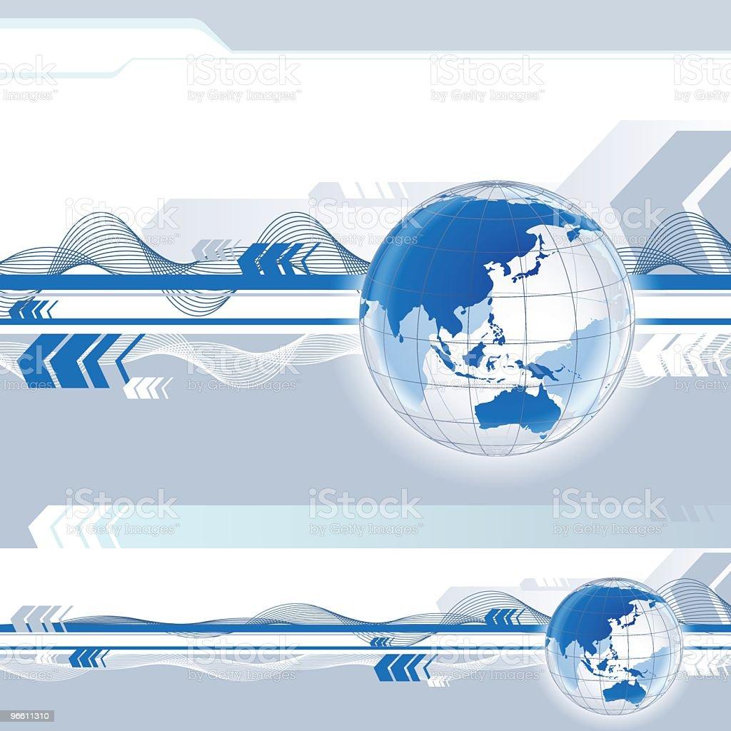 Глобус в движении - Векторная графика Без людей роялти-фри
