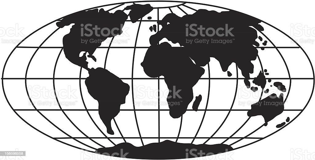 A Globe Oval (Vector) vector art illustration