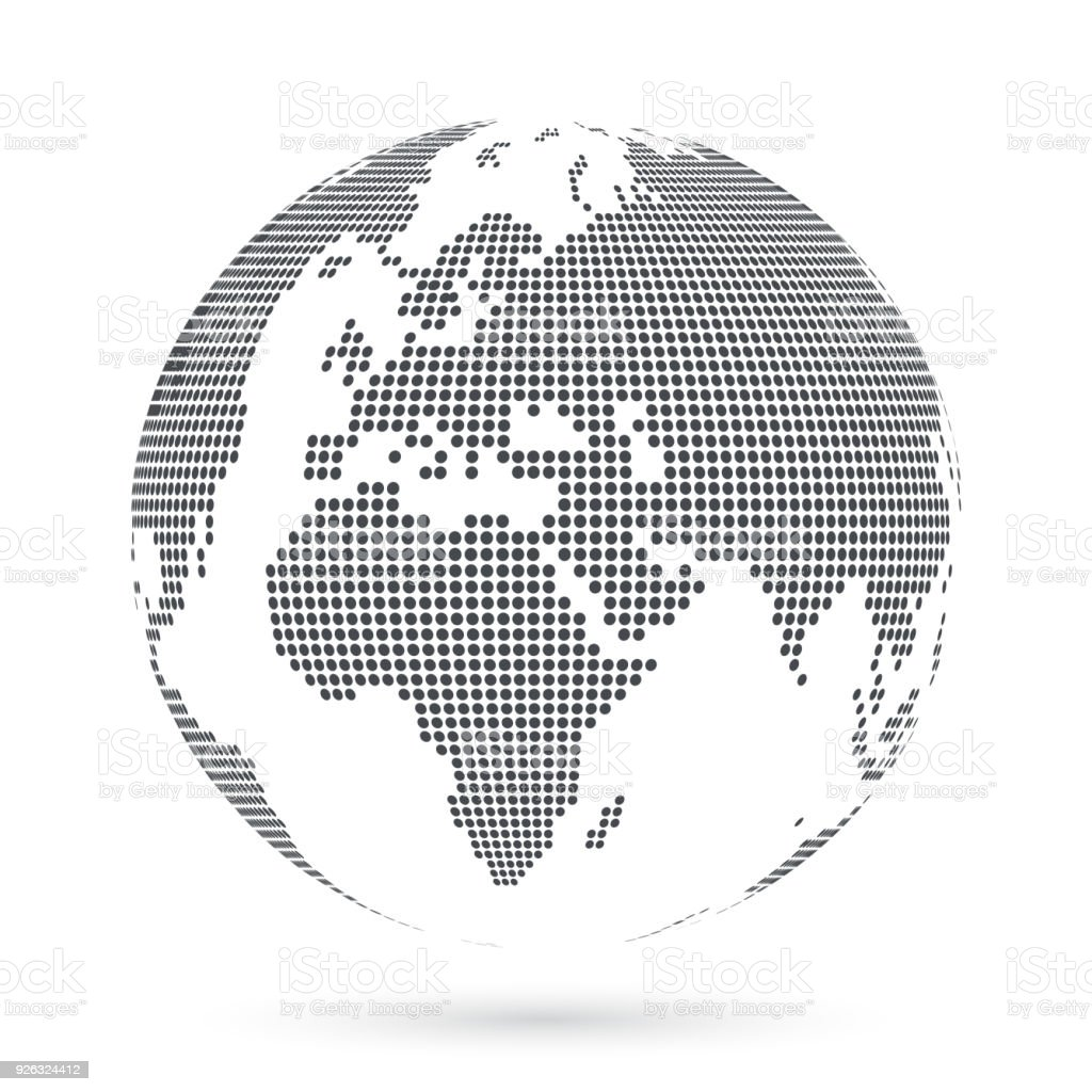 Globe shape world map created from dots vector illustration stock globe shape world map created from dots vector illustration royalty free globe shape gumiabroncs Choice Image