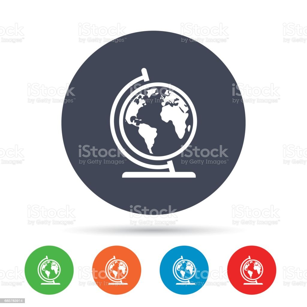 Globe sign icon. World map geography symbol. royalty-free globe sign icon world map geography symbol stock vector art & more images of abstract
