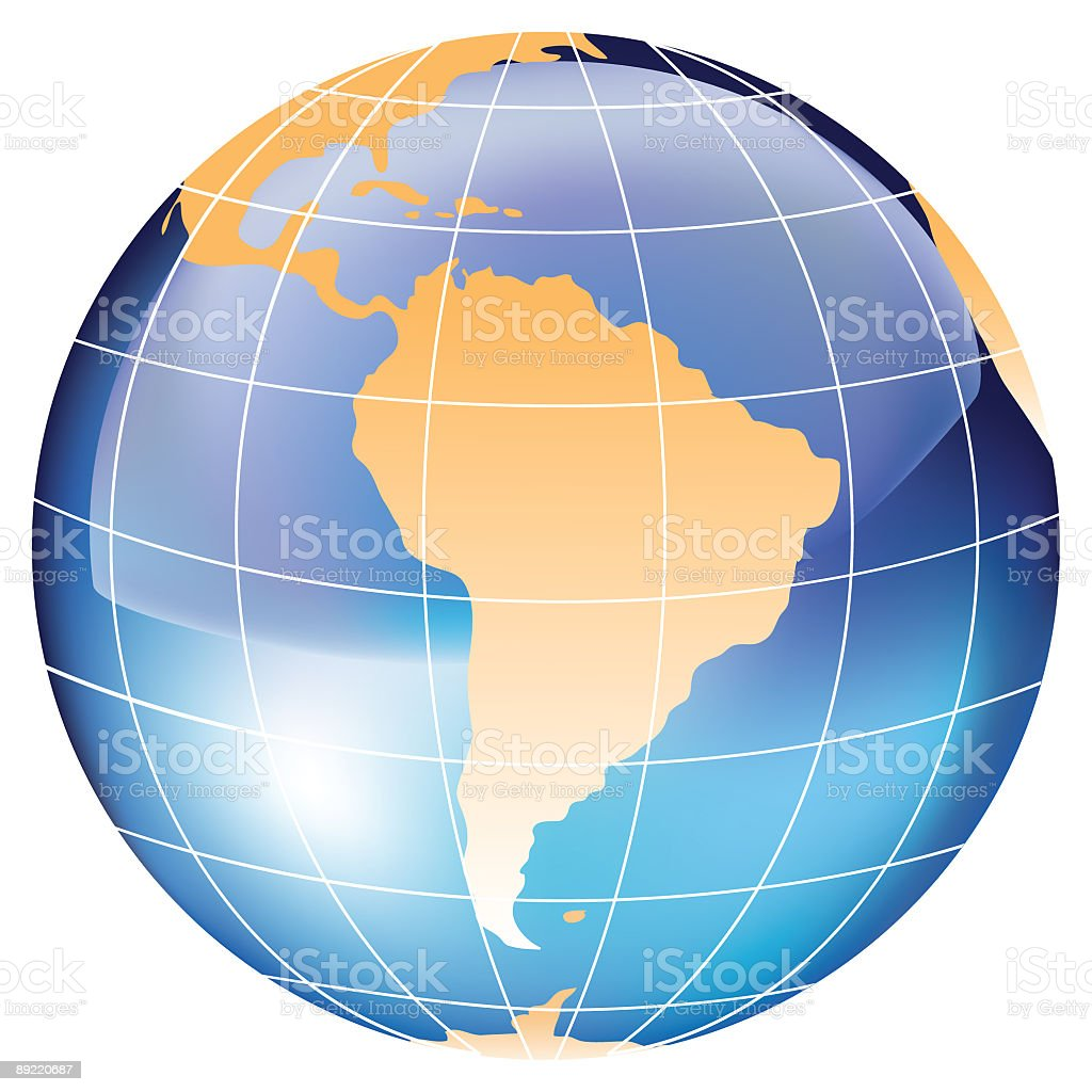 Globe - South America royalty-free globe south america stock vector art & more images of bright