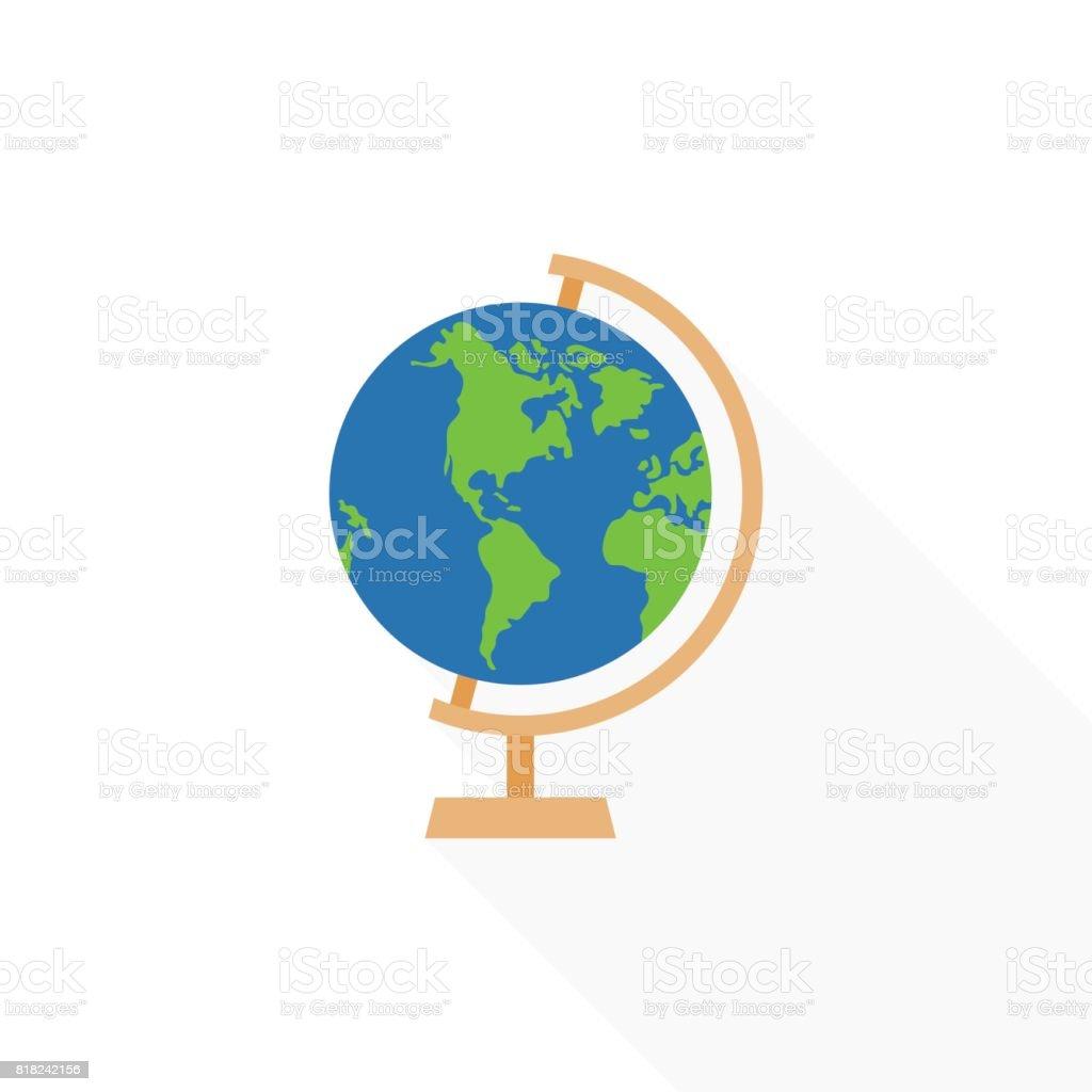 Icono de soporte de globo - ilustración de arte vectorial