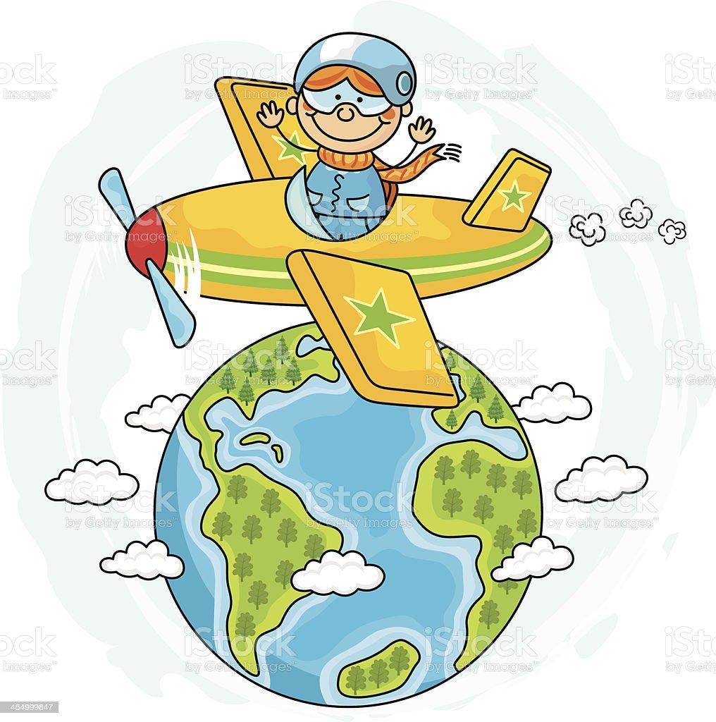 Globus Reisen Kinder Stock Vektor Art und mehr Bilder von Comic ...
