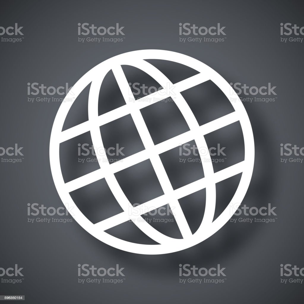 Globe vector icon royalty-free globe vector icon stock vector art & more images of business finance and industry