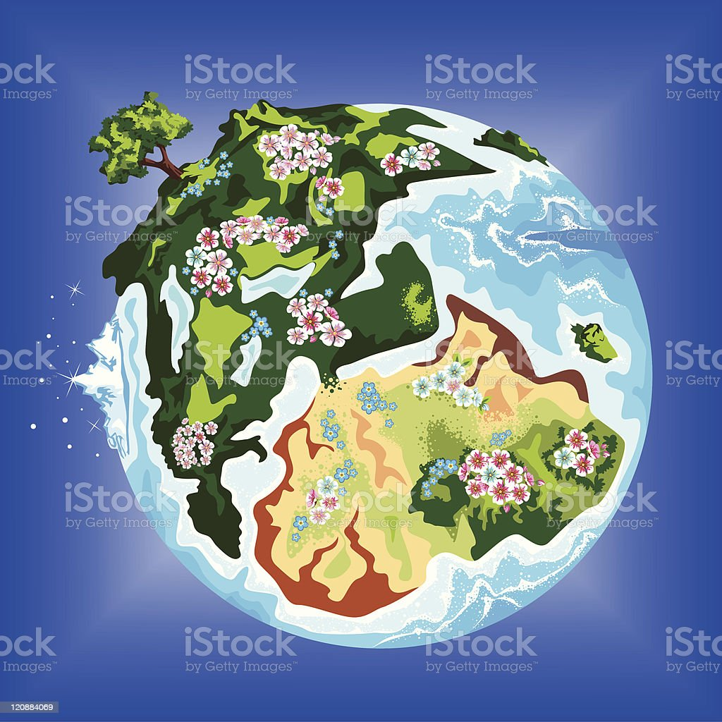 Globe royalty-free globe stock vector art & more images of botany