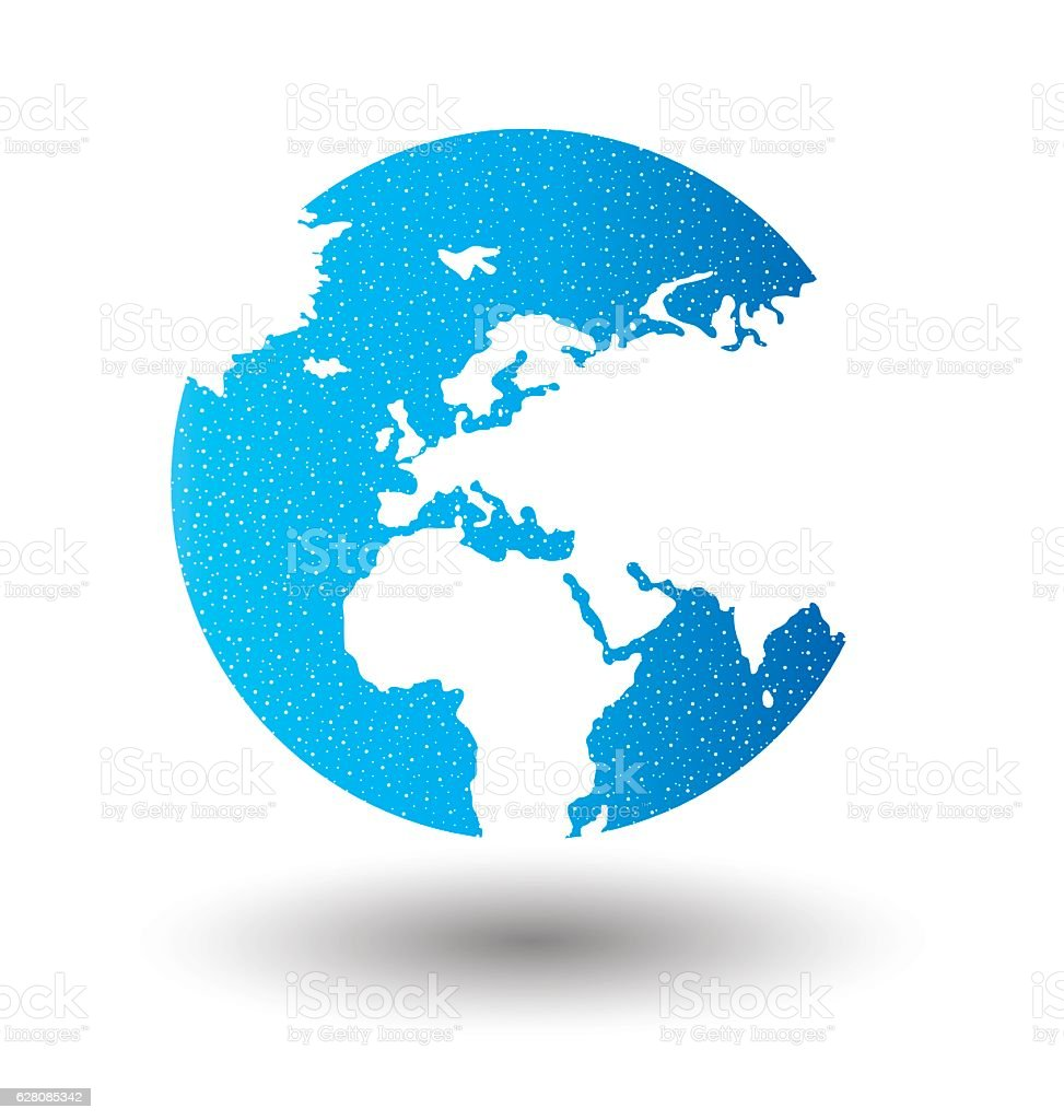 Globe vector Illustration. vector art illustration