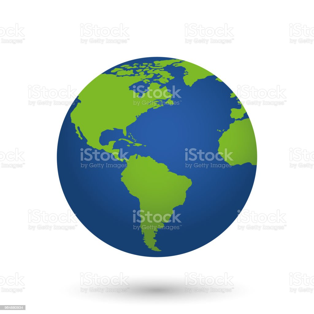 Globe. Vector illustration royalty-free globe vector illustration stock vector art & more images of blue