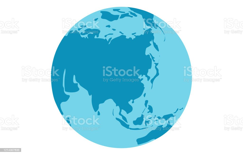 Picture of: Globe View From Eurasia Continent Eastern Europe East Asia Southeast Asia And Oceania Silhouette On World Map Planet Earth Flat Vector Illustration Stock Illustration Download Image Now Istock