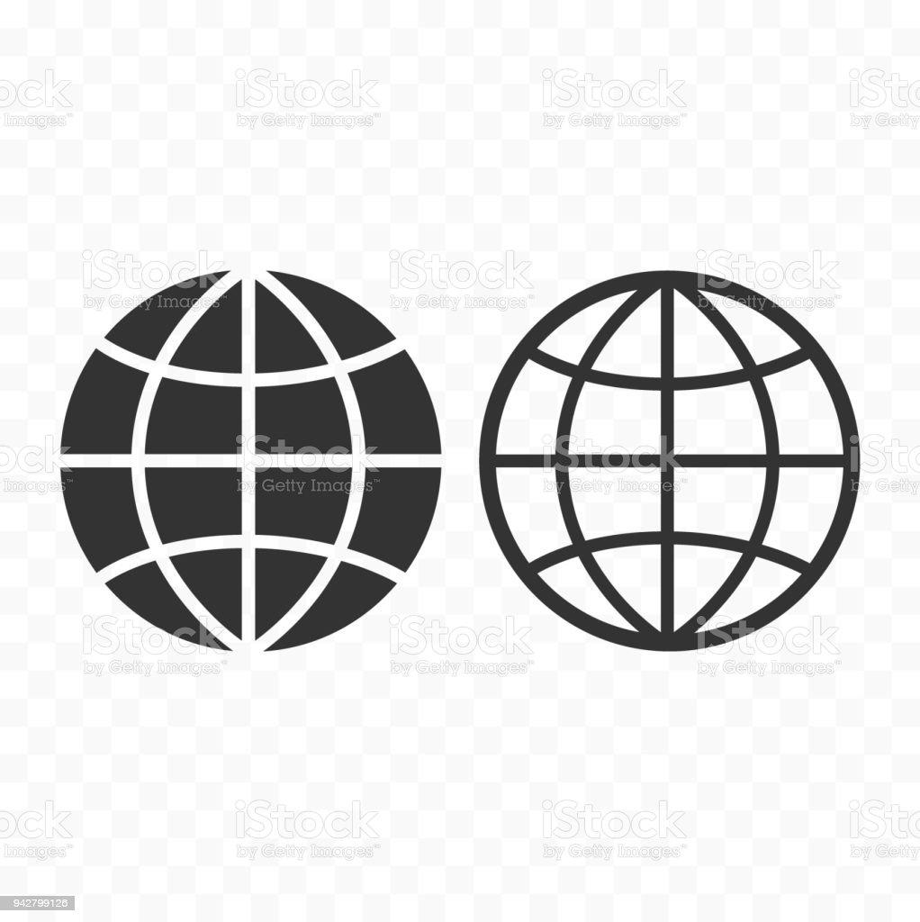 Globe web symbol icon set planet with parallels and meridians sign globe web symbol icon set planet with parallels and meridians sign royalty free buycottarizona Choice Image
