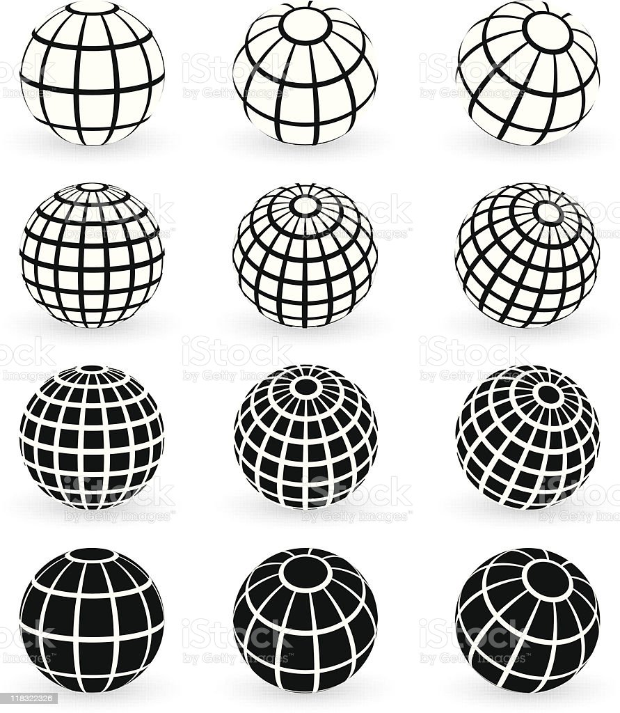 Colorful Wire Globe Vector Pictures - Electrical Diagram Ideas ...