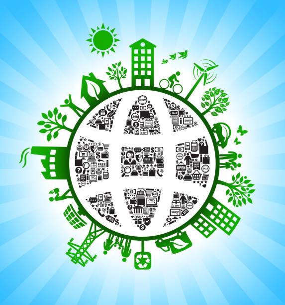 ilustrações de stock, clip art, desenhos animados e ícones de globe wireframe e-commerce green environmental conservation background - wireframe solar power