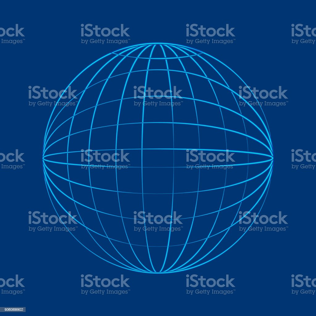 Globe Wireframe Flat Wire Center Circuit Amplifiercircuitsaudio Lilydzc1inductioncookercircuit In Style Stock Vector Art More Images Of Rh Istockphoto Com Earth Soc