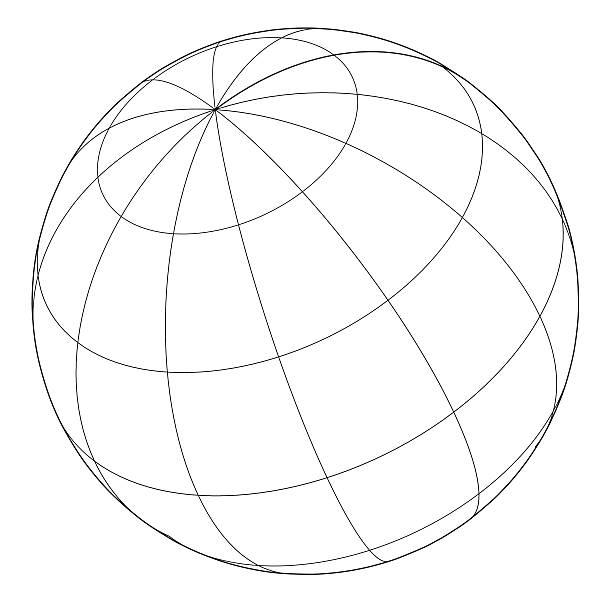 Globe-Gitternetzlinien Vektor – Vektorgrafik