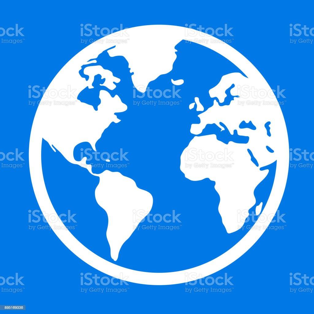 Globe Avec La Carte Du Monde – Cliparts vectoriels et plus d
