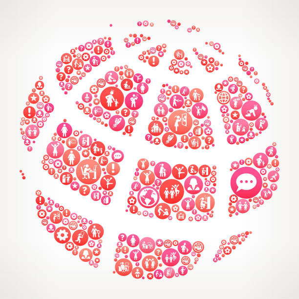 globus frauen girl power icons vektor hintergrund - laufführer stock-grafiken, -clipart, -cartoons und -symbole