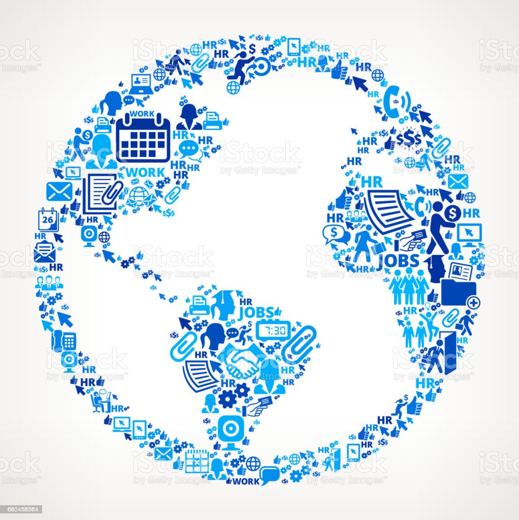 全球範圍內的工作和就業公司圖示背景 免版稅 全球範圍內的工作和就業公司圖示背景 向量插圖及更多 人力資源 圖片