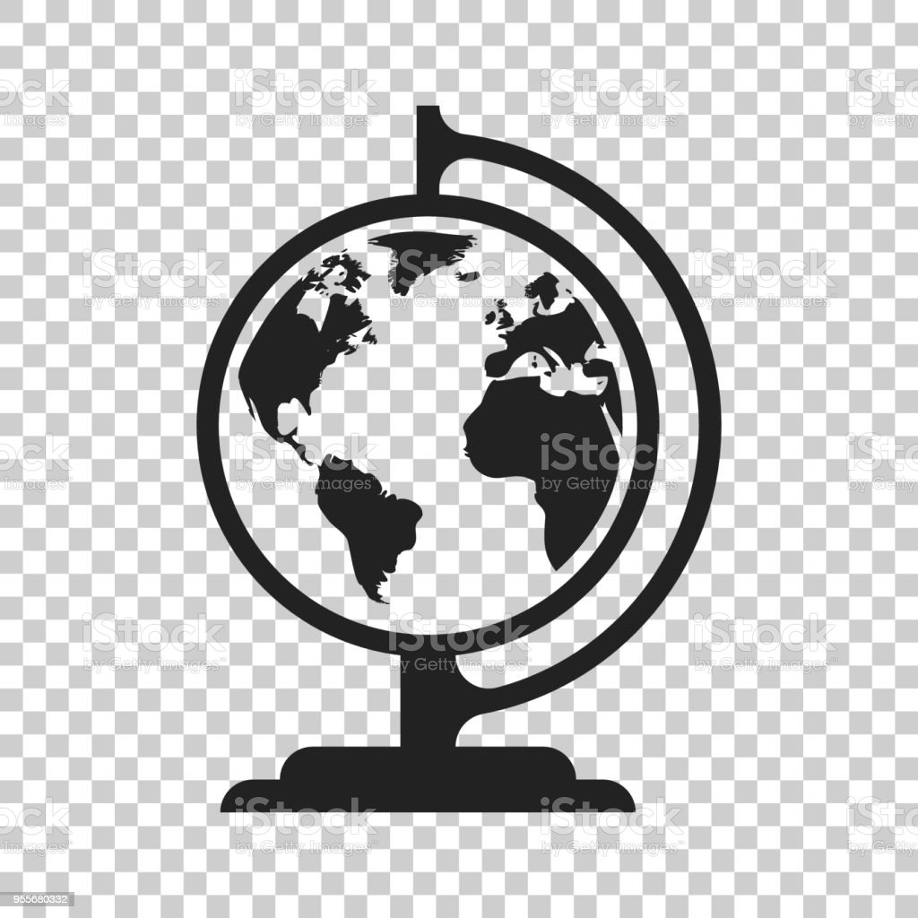 Globe world map vector icon round earth flat vector illustration globe world map vector icon round earth flat vector illustration planet business concept pictogram gumiabroncs Image collections