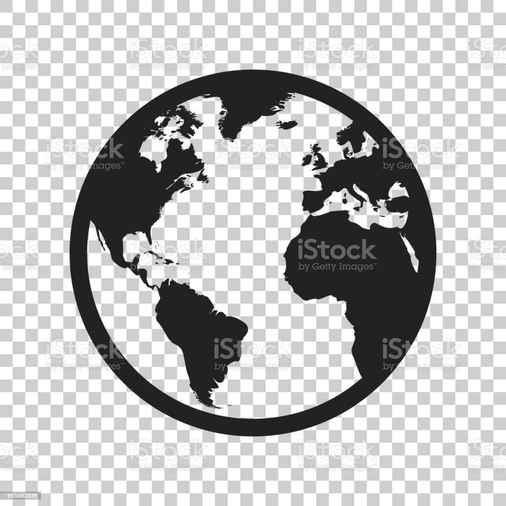 Globe world map vector icon round earth flat vector illustration globe world map vector icon round earth flat vector illustration planet business concept pictogram gumiabroncs Choice Image