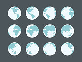 Globes icon collection,vector illustration. EPS 10.
