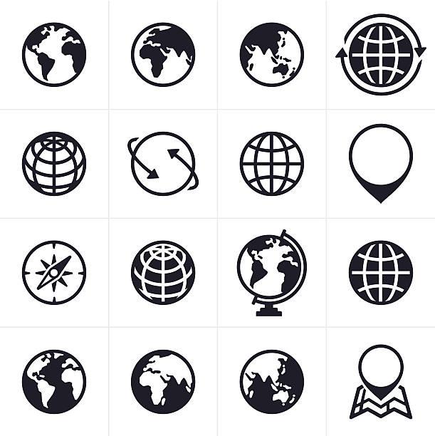 地球のアイコンと記号 - 地球点のイラスト素材/クリップアート素材/マンガ素材/アイコン素材