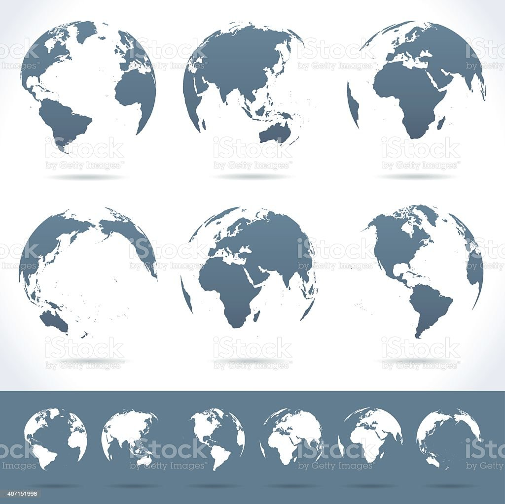 Globes set - illustration vector art illustration