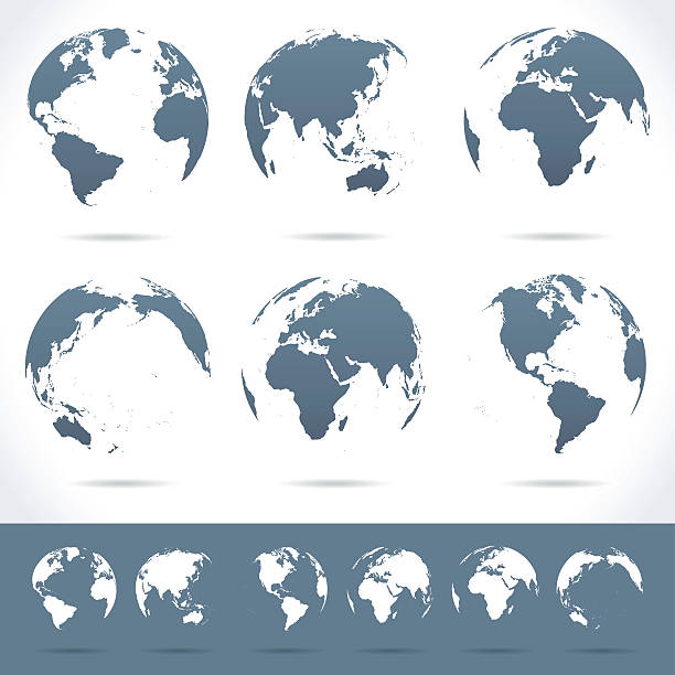 Globes set - illustration vector art illustration