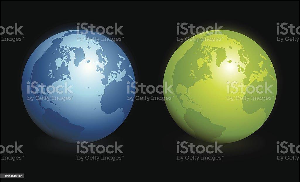 Globes royalty-free stock vector art
