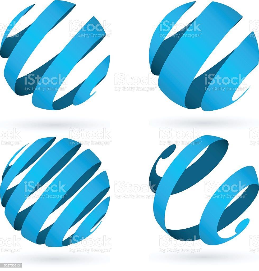 Globe/esfera - ilustración de arte vectorial