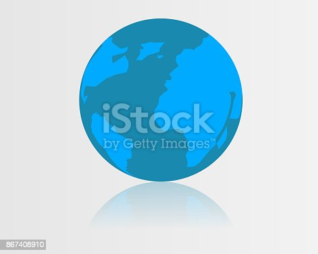 istock Globo blue icon vector 867408910