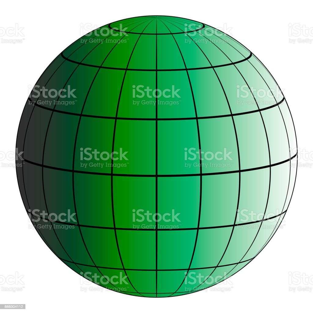 Globus 3d Erde Raster Die Wirkung Der Beleuchtung Durch Die Sonne ...