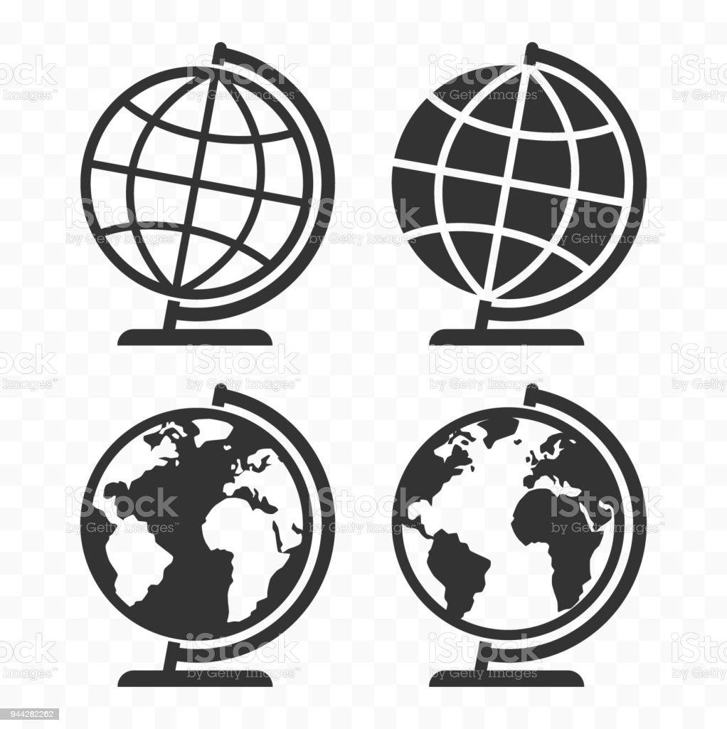 Globus web icon set planet earth globe symbols for websites stock planet earth globe symbols for websites royalty free globus buycottarizona Choice Image