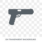 glock icon. glock design concept from Army collection. Simple element vector illustration on transparent background.