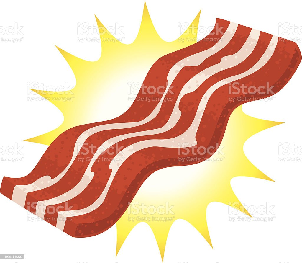 Glorious bacon vector art illustration