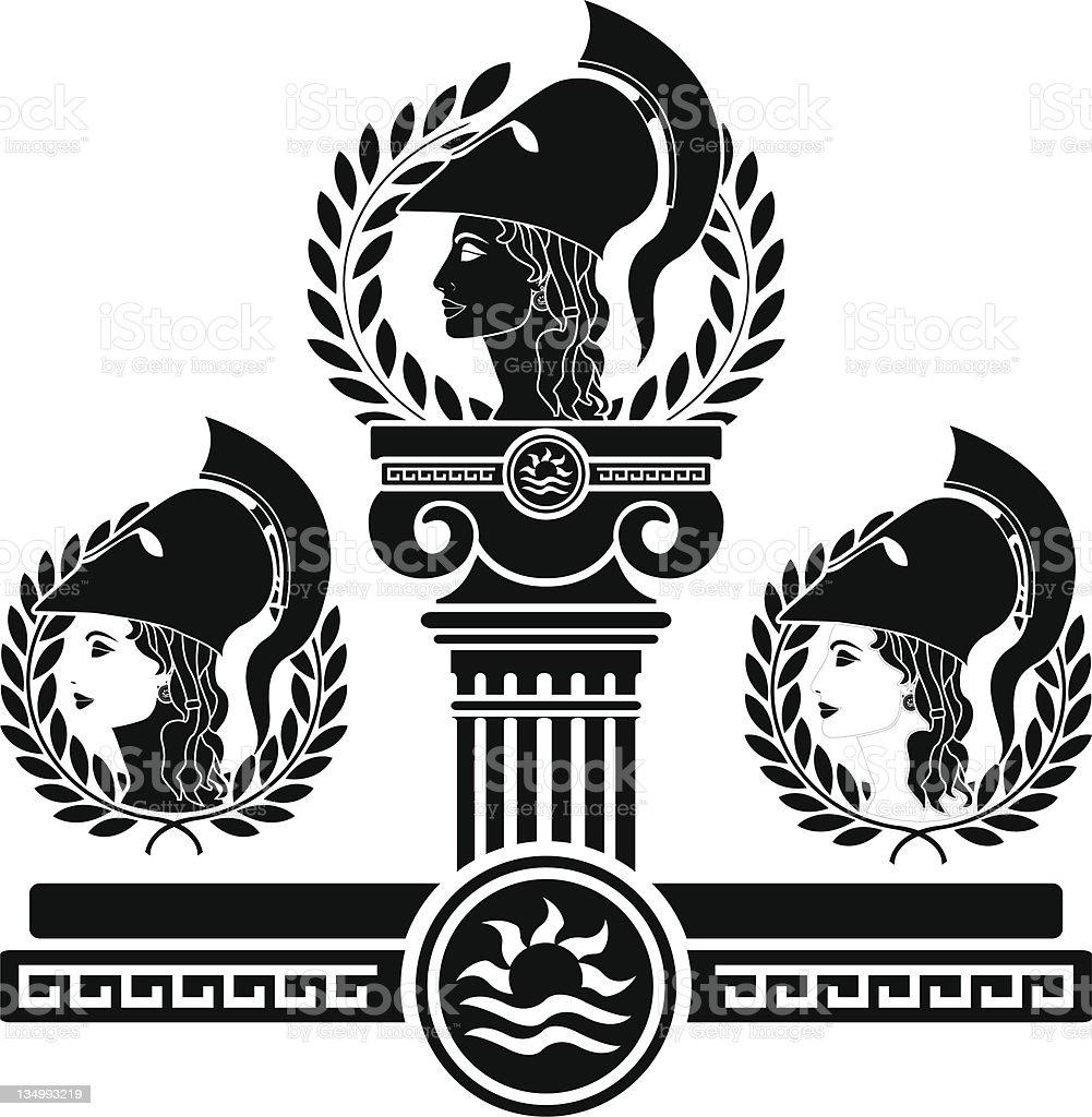 glory of Athena royalty-free stock vector art