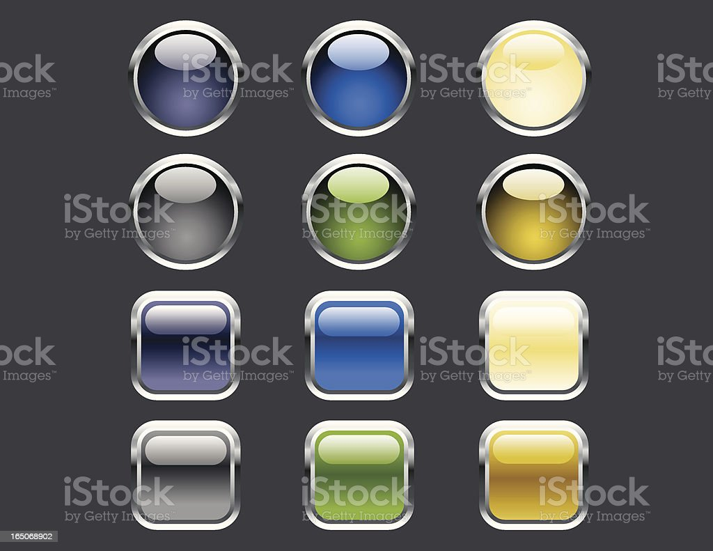 Glosscon Earthtone Buttons royalty-free glosscon earthtone buttons stock vector art & more images of beige