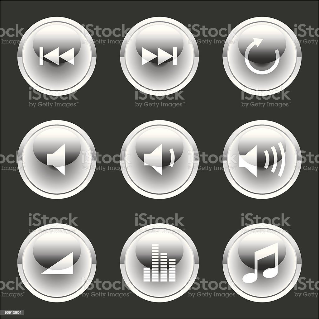 Glossee Orb Button royalty-free glossee orb button stock vector art & more images of color image
