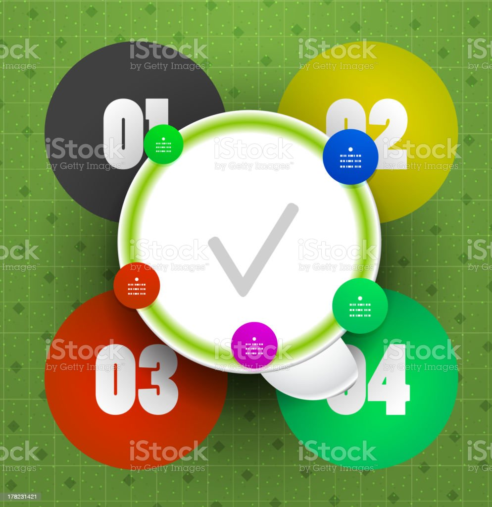 Glossy abstract circles infographic design royalty-free stock vector art