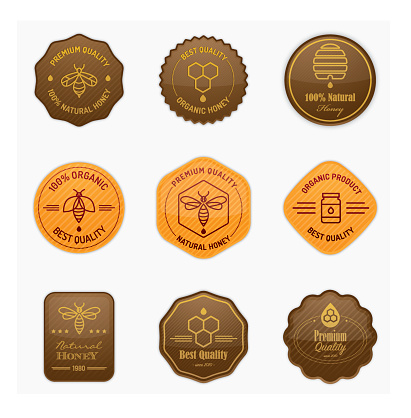 Glossy apiculture and honey badges