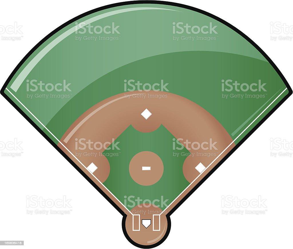 Glossy Baseball Field vector art illustration