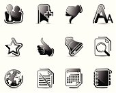 Glossy Black Icons-Social Network