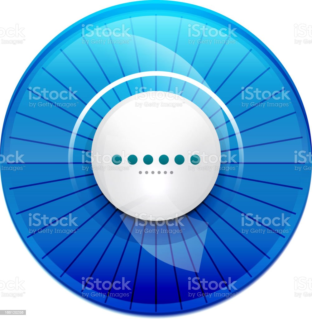Glossy blue button royalty-free stock vector art