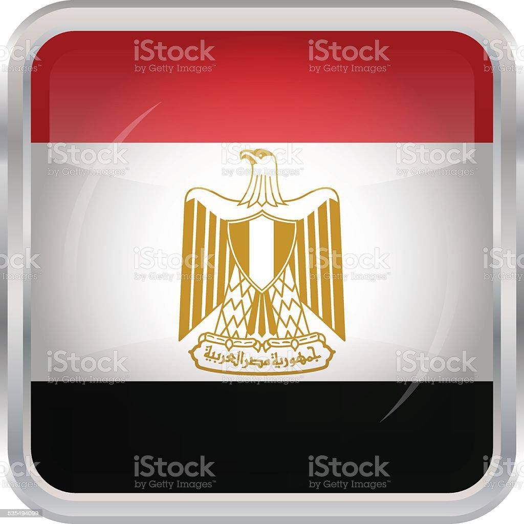 Glänzend-Schaltfläche-Flagge von Ägypten – Vektorgrafik