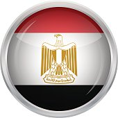 Glossy Button - Flag of Egypt