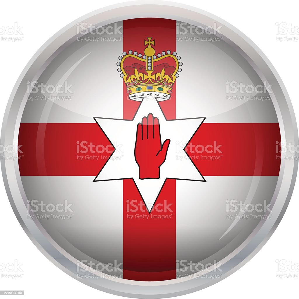 glossy button flag of northern ireland stock vector art 535514155