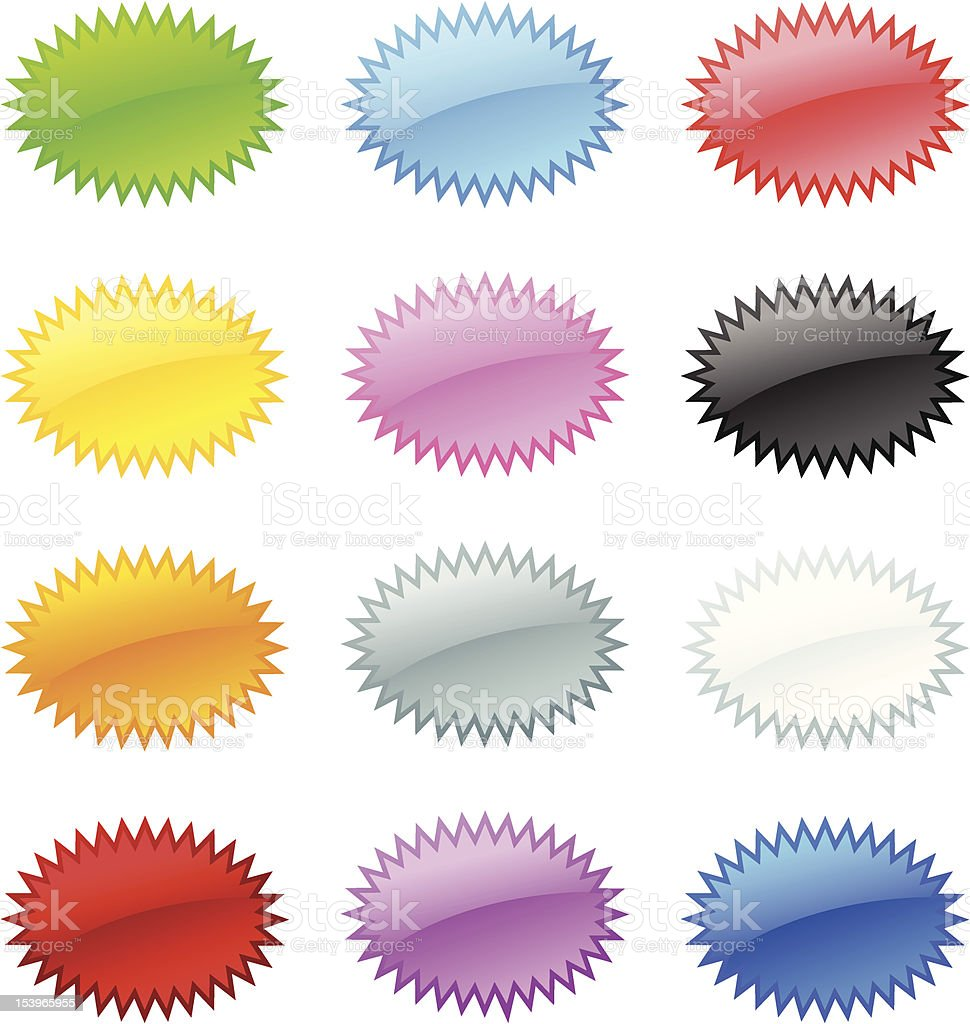 Glossy Button royalty-free glossy button stock vector art & more images of black color