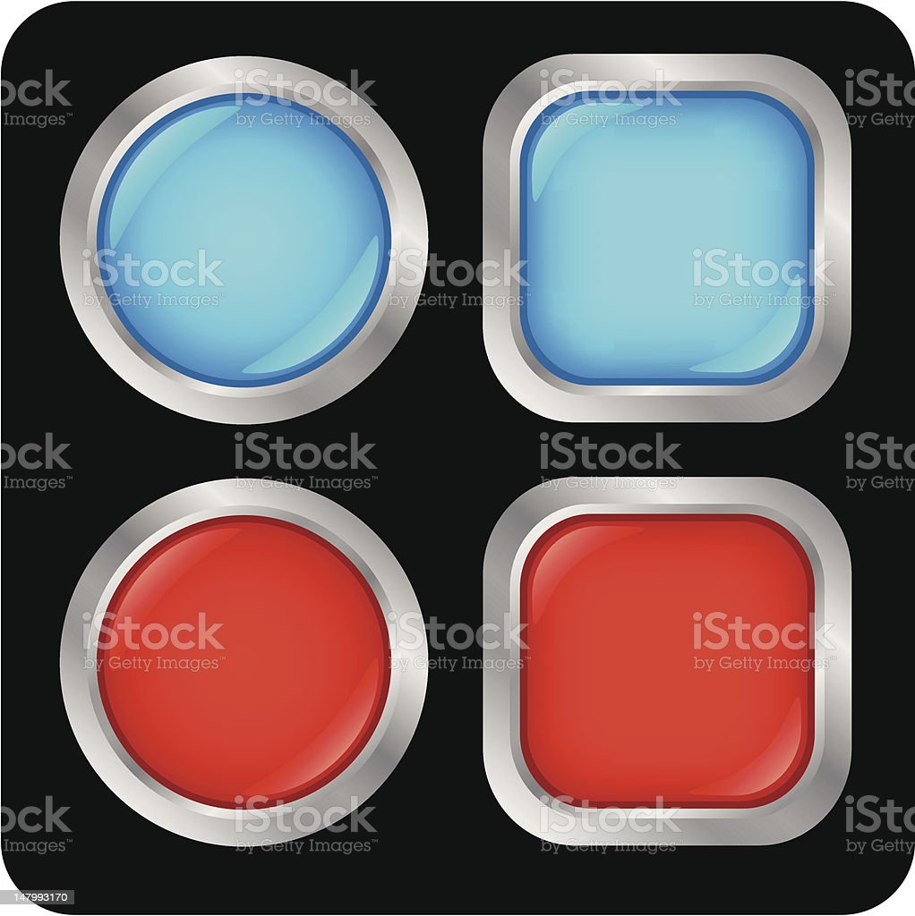 Glossy buttons royalty-free glossy buttons stock vector art & more images of alloy